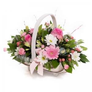 Flowers by Ann - Baby Girl Pink Basket