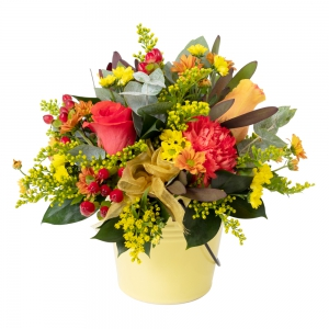 Flowers by Ann - Pot Of Gold Arrangement