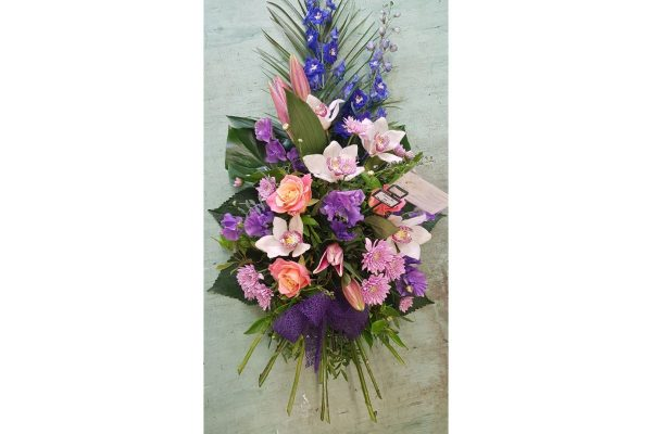 Flowers by Ann - Single end spray pink purple 55.00