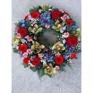 Flowers by Ann - seasonal wreath 60.00