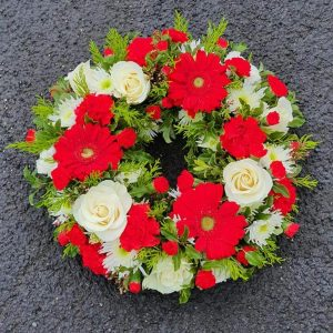 Flowers by Ann - wreath-red-and-white-65.00-1