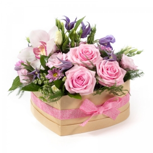 heart of gold hat box flowers